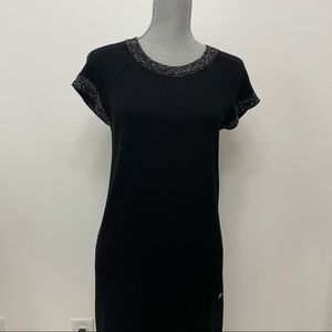 CHANEL Black Knee-Length Sweater Dress 36